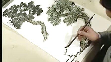 徐建明山水画法 2梧树,柳树