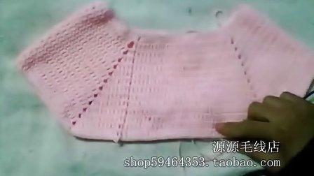 源源毛线店 女宝宝娃娃裙的钩法 怎么钩裙子 怎么织毛衣 棒针钩针教程