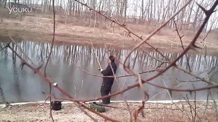 2012年1月冬季筏竿串钩钓鲫鱼