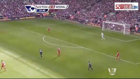 詹俊 范佩西绝杀 利物浦1:2阿森纳 英超27轮 上半场实况