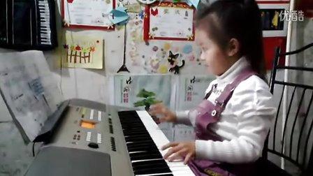《送别》电子琴演奏 靖文茹视频