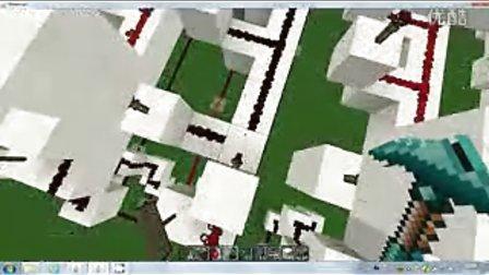 【minecraft】红石电路数字显示面板