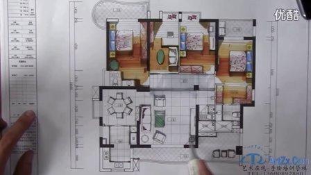 华东师范大学快题设计--室内家居空间平面图马克笔2