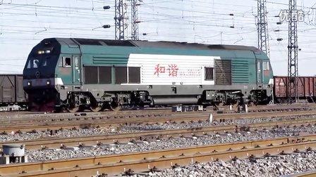 HXD2B牵引货列出丰西编组站视频