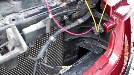 蜗牛喇叭继电器搭铁安装方法