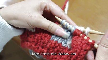 席纹花围巾手工编织视频教程