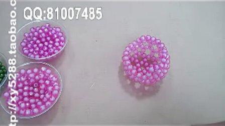 美朵 手工串珠教程 串珠寿桃视频教程 新手必备 步骤详细