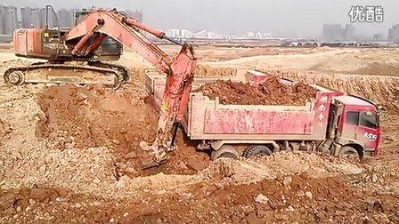 长沙最牛挖机,日立210装车视频 -长沙最牛挖机,日立210装车