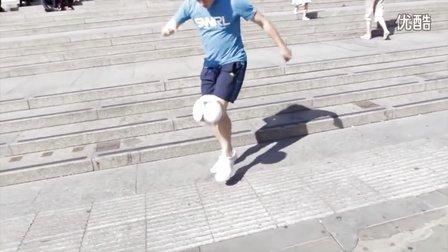 185【足球教学】安德鲁台阶花式足球
