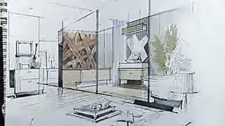 庐山手绘艺术特训营陈红卫现代家居空间草图表现