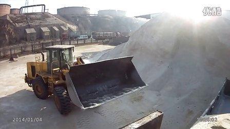 R 铲车装载机装车工作视频 工业盐出库B 老张