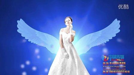 led婚庆动态背景素材 新娘翅膀 水晶天使翅膀 影视素材vj