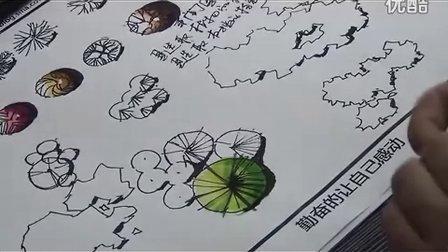 2012年一行手绘马克笔视频教程(平面植物)