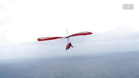 美妙的无动力三角翼飞行