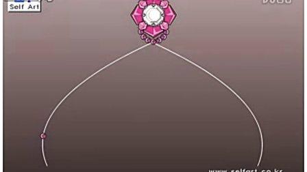 水晶串珠教程,手工串珠教程,串珠图解,串珠苹果图解,串珠纸巾盒图解