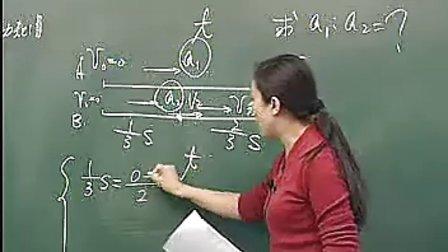高一物理名师授课:直线运动中的位移—时间图像与速度的关系