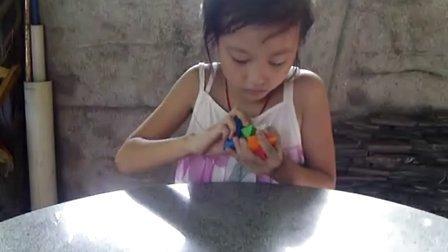 视频演示棱角球孔明锁的拼装(v790)