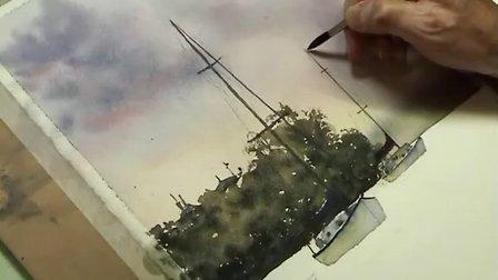 【失逝】水彩风景教学视频(四)船