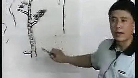 高二美术优质课_国画松树