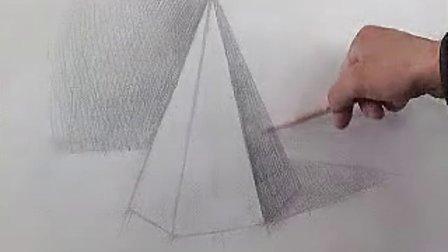 四棱锥的画法 5.六棱柱的画法图片