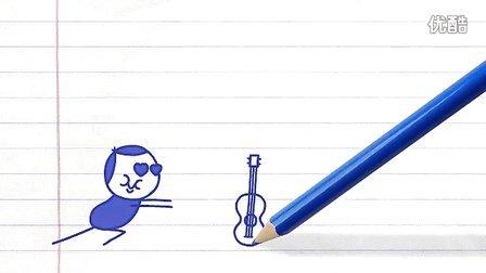 铅笔画小人30