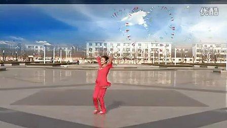 临盘立华广场舞 恭祝大家新年好 背面