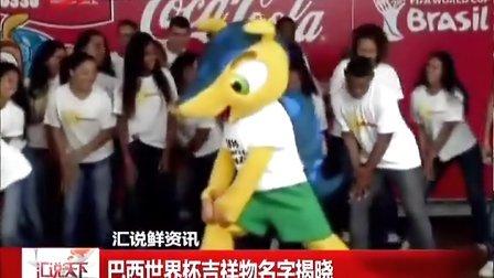 巴西世界杯吉祥物名字揭晓 [汇说天下]
