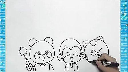 姜宏儿童画教学18.动物们的合影