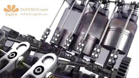 3d动画  汽车引擎发动机气缸原理展示三维动画制作公司世峰数字科技SUFENCG.COM