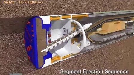 机械动画 地铁隧道挖掘机盾构机工作原理动画演示 动画制作公司世峰