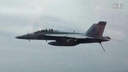 美国企业号航母飞机起飞和降落