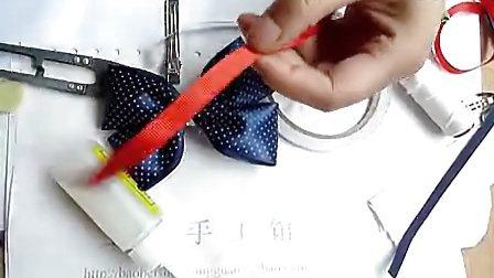 diy手工发饰制作视频教程 头花韩版发夹 原创