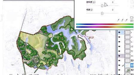 秋凌景观设计 园林景观效果图手绘彩色平面图远程课