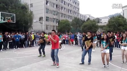贵州大学明德学院管理工程系,文体部篮球迎新杯开幕式。--江南style