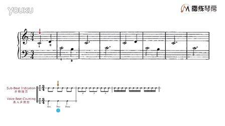 磨练琴房钢琴慢速陪练:约翰汤普森简易钢琴教程1图片