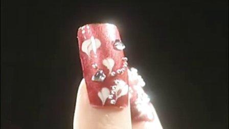 最新的大理石纹 水染美甲课程 超级琉璃甲制作