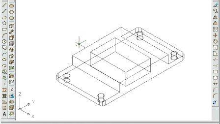 铝合金隔断cad设计图