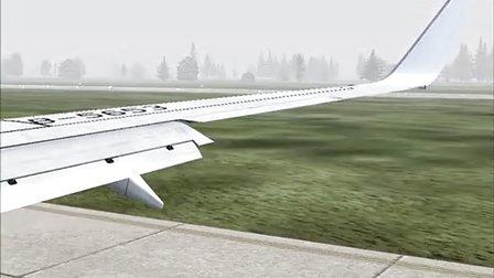 模拟飞行10机型波音738厦门航空b5653杭州萧山机场