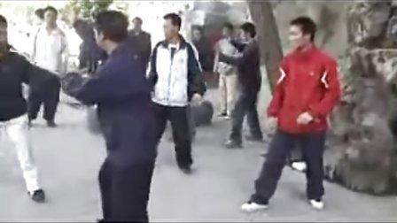 沙国政云南弟子陈庭华演练沙氏通臂拳单操手