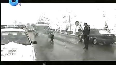 商洛交警2008年雪灾确保312国道商洛段畅通保驾护航