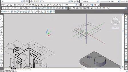 cad教程 cad机械教程 cad2010机械制图视频--小实例