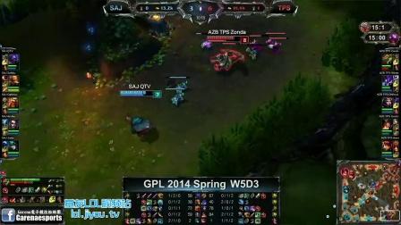 SAJ vs AZB.TPS 2014GPL春季赛A組W5D3