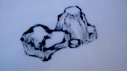 国画石头的画法