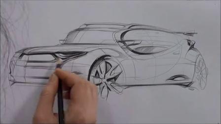 设计素描——如何手绘汽车(三十八)