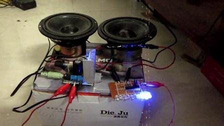 TDA7297功放+LM3915電平指示燈