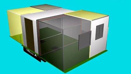 房车内部结构透视图