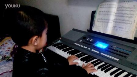 刘博电子琴《小红帽》(五岁)