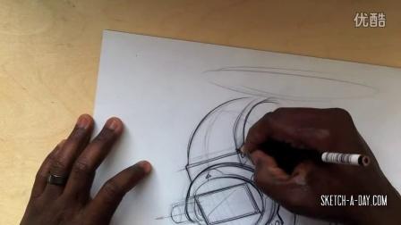 sketch-a-day外国工业设计手绘视频教程