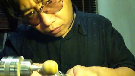 胖麒麟木工工作室-简易设备diy佛珠:麻梨疙瘩