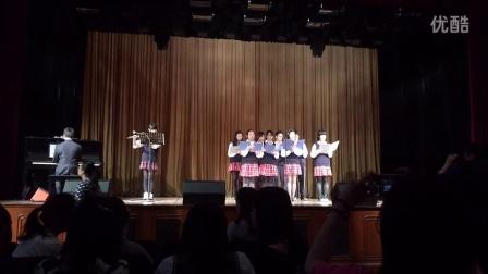 自由飞翔(钢琴长笛伴奏)—大境中学合唱队 市三女中2014社团节视频